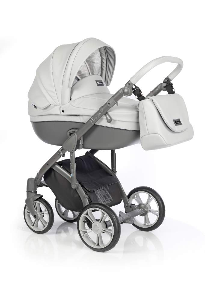Детская коляска Roan Bass Soft 2 в 1 (Светло-серый)