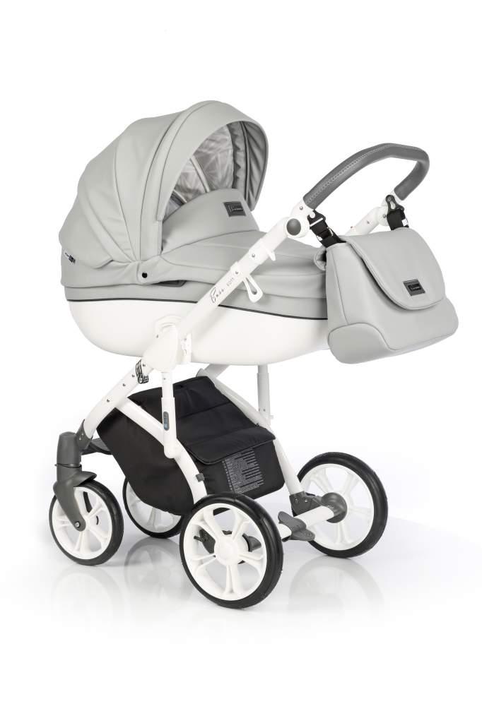 Детская коляска Roan Bass Soft 2 в 1 (Светло-серый/белый)
