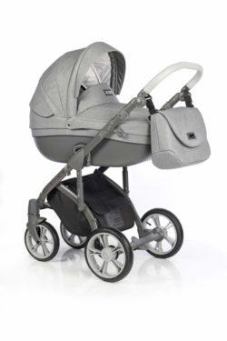 Детская коляска Roan Bass Soft 3 в 1 New 2019 (Серый) Grey Dots