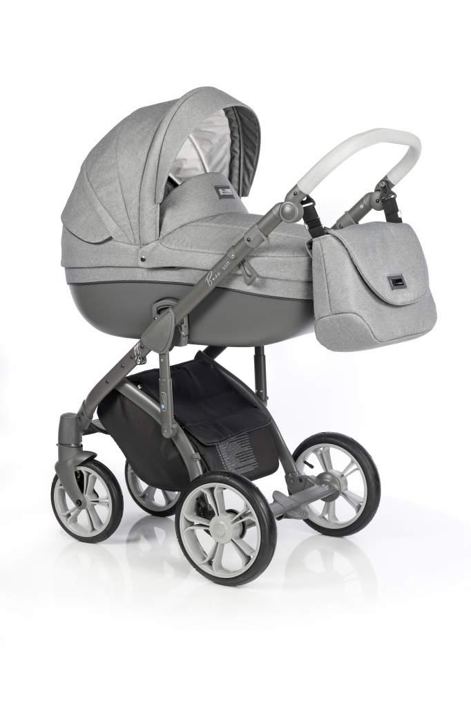 Детская коляска Roan Bass Soft 2 в 1 (Черно-серый)