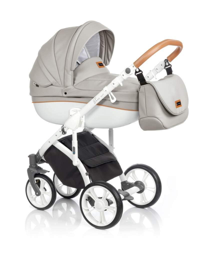 Детская коляска Roan Bass Soft 3 в 1 (Бежевый/белый)