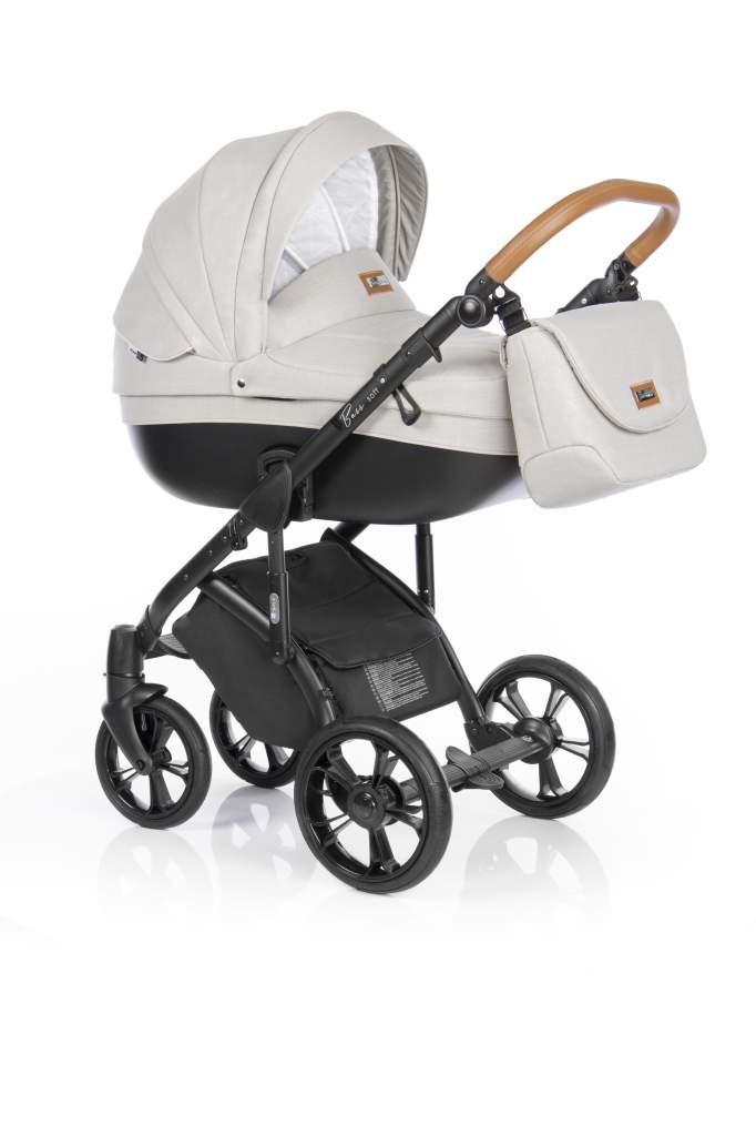 Детская коляска Roan Bass Soft 3 в 1 (Бежевый/черный)