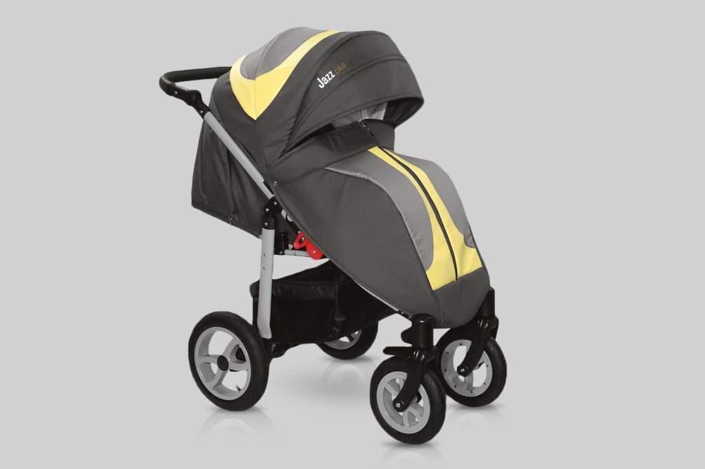 Прогулочная коляска Snolly Jazz Plus (Серый/желтый)
