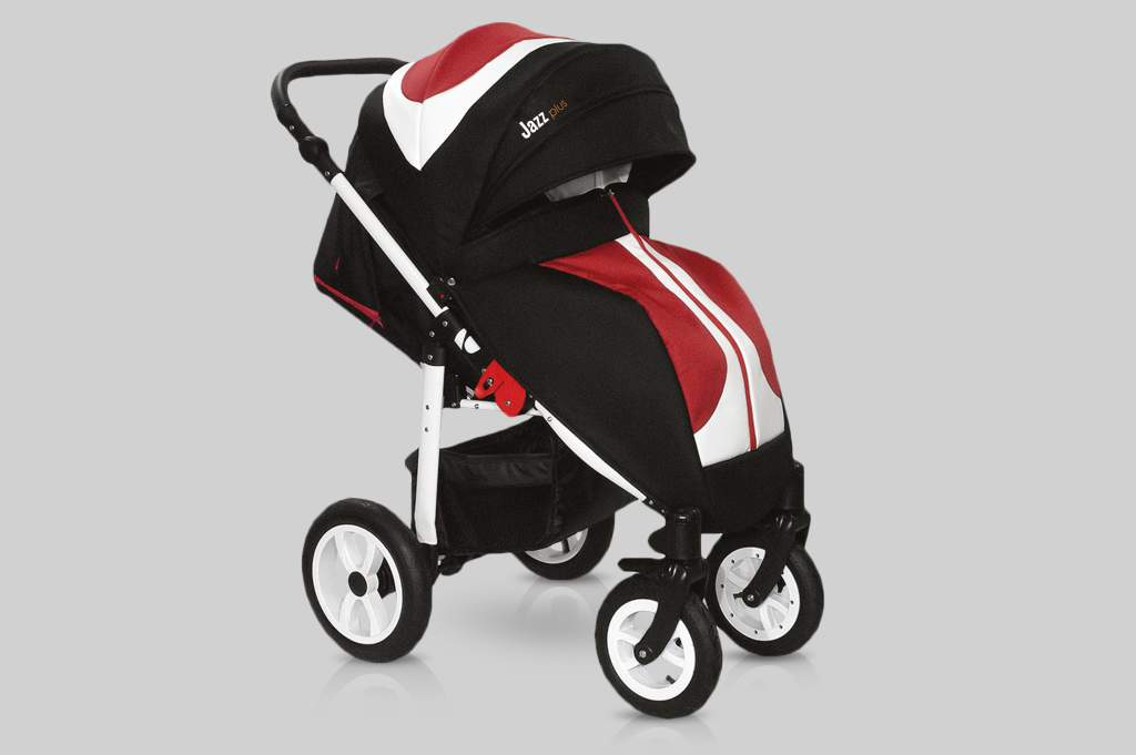 Прогулочная коляска Snolly Jazz Plus (Черный/красный)