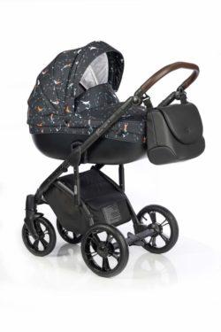 Детская коляска Roan Bass Soft 3 в 1 New 2019 (Черный с принтом) Ocean Lullaby