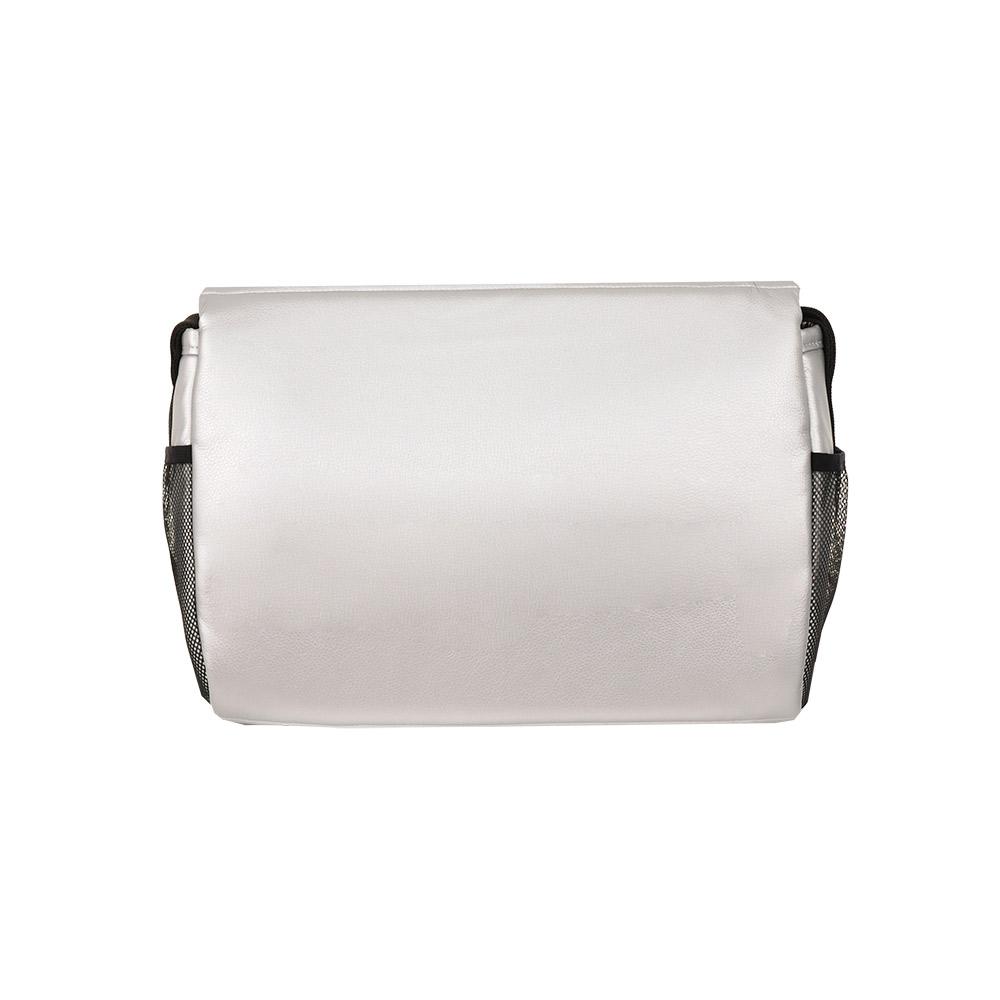 Коляска Tutis Nanni 2 в 1 в коже (серебро+тёмно-серый)/гелевые колеса