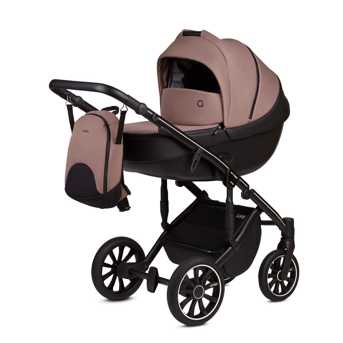 Детская Коляска ANEX m/type 3 в 1 (Розовый/черный)
