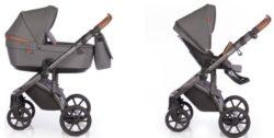 Детская коляска Roan Bloom 2 в 1 New 2021 (Серый) Black Dots