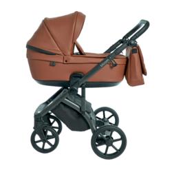 Детская коляска Roan Bloom 2 в 1 New 2021 эко-кожа (Коричневый) Cognac