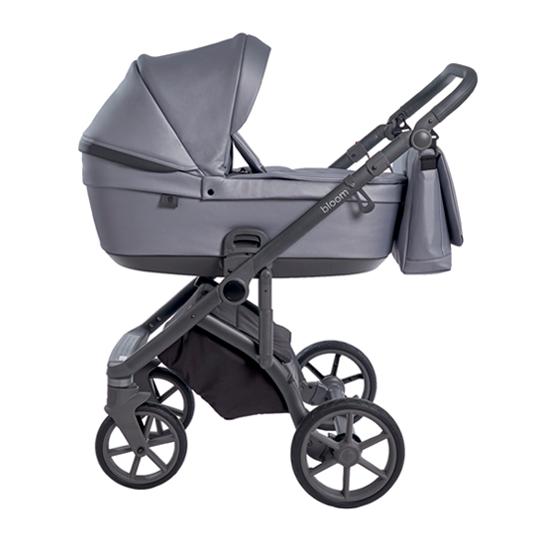 Детская коляска Roan Bloom 3 в 1 New 2021 эко-кожа (Серый) Grey Pearl