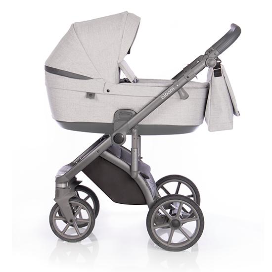 Детская коляска Roan Bloom 2 в 1 New 2020 (Серый) Grey Powder