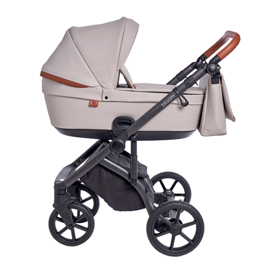 Детская коляска Roan Bloom 3 в 1 New 2021 эко-кожа (Розовый) Island Stone