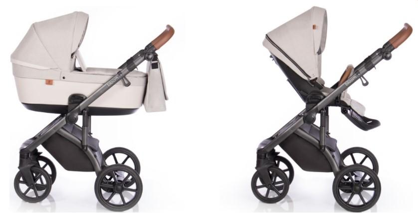Детская коляска Roan Bloom 3 в 1 New 2021 (Бежевый) Ivory