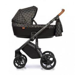 Детская коляска Roan Bloom 3 в 1 New 2021 (Черный) Matrix