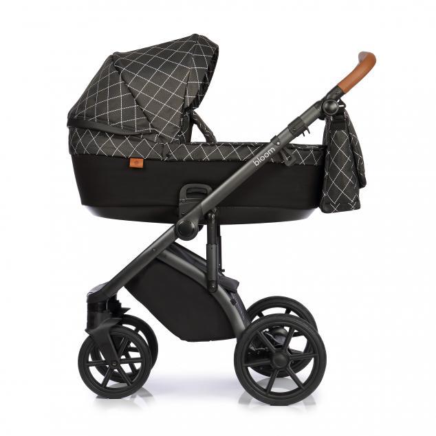 Детская коляска Roan Bloom 2 в 1 New 2021 (Черный) Matrix