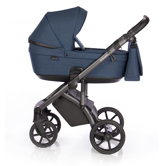 Детская коляска Roan Bloom 3 в 1 New 2021 (Синий) Midnight