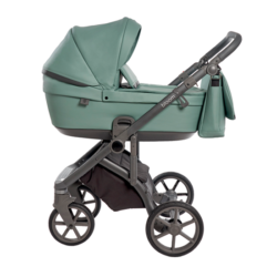 Детская коляска Roan Bloom 2 в 1 New 2021 эко-кожа (Бирюзовый) Misty Mint