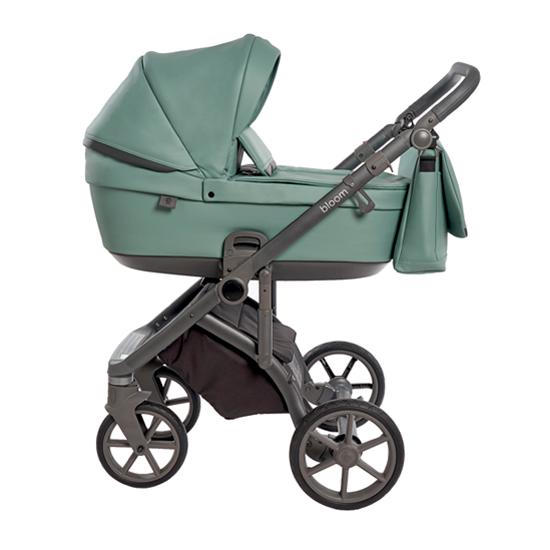 Детская коляска Roan Bloom 3 в 1 эко-кожа Misty Mint / (Бирюзовый)