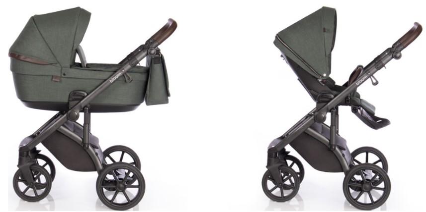 Детская коляска Roan Bloom 2 в 1 New 2021 (Зеленый) Night Green