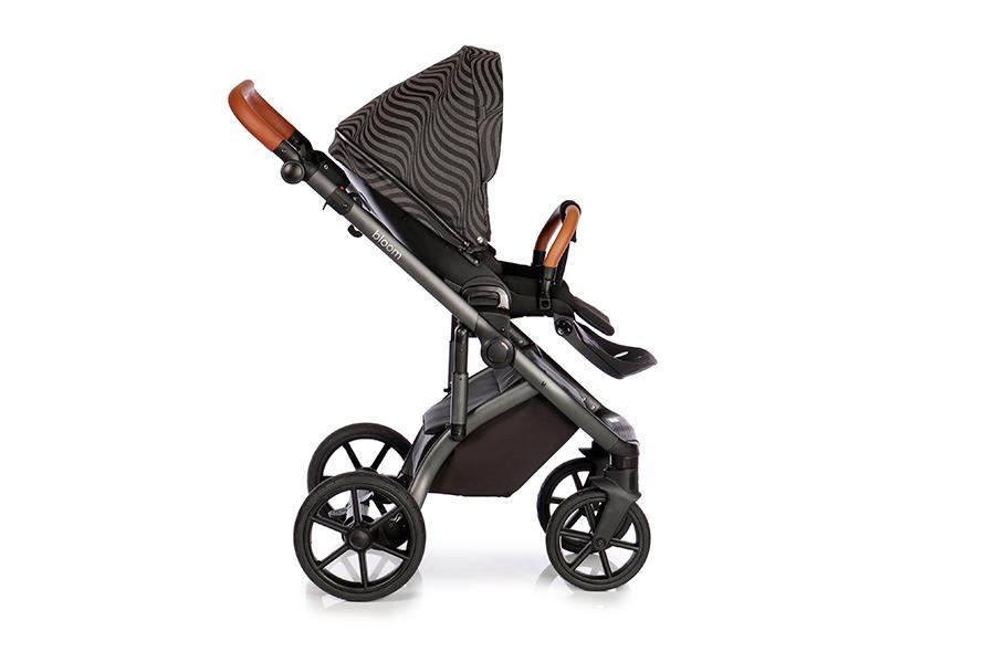 Детская коляска Roan Bloom 2 в 1 New 2021 (Черный) Oxida