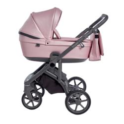 Детская коляска Roan Bloom 2 в 1 New 2021 эко-кожа (Розовый) Pink Pearl