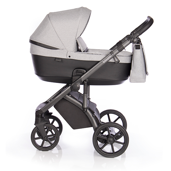 Детская коляска Roan Bloom 3 в 1 New 2020 (Серый) Silver Chevron