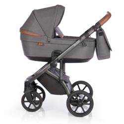 Детская коляска Roan Bloom 3 в 1 New 2021 (Серый) Black Dots