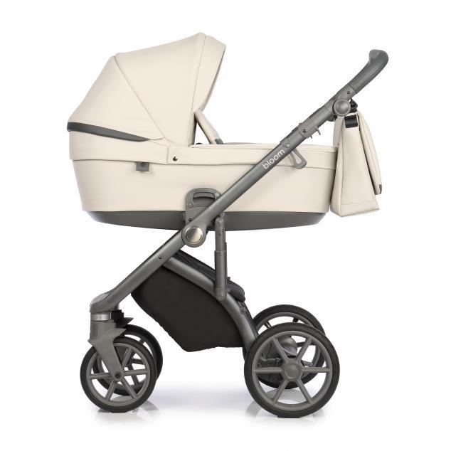 Детская коляска Roan Bloom 3 в 1 эко-кожа Stone / (Бежевый/серый)