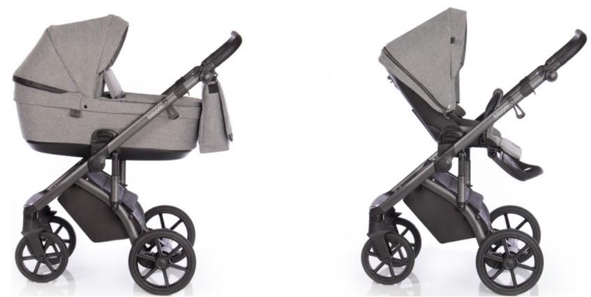 Детская коляска Roan Bloom 3 в 1 New 2021 (Серый) Titanium