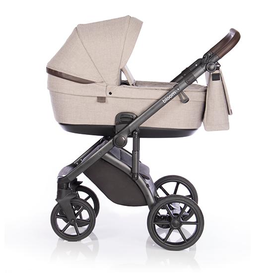 Детская коляска Roan Bloom 3 в 1 Truffle / (Бежевый) с коричневыми вставками