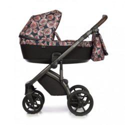 Детская коляска Roan Bloom 2 в 1 New 2020 (Черный) Vintage Flowers