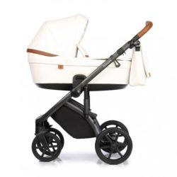 Детская коляска Roan Bloom 2 в 1 New 2020 эко-кожа (Белый) White