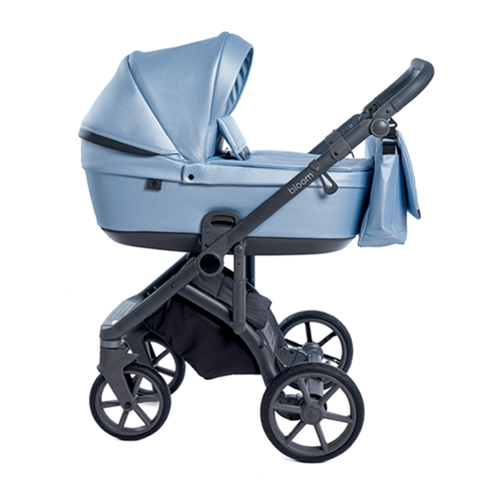 Детская коляска Roan Bloom 3 в 1 эко-кожа Blue Pearl / (Голубой)