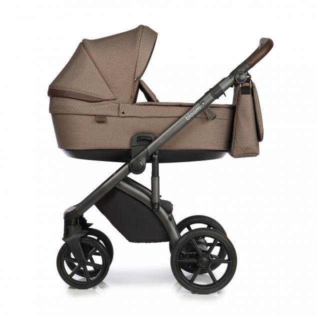 Детская коляска Roan Bloom 2 в 1 New 2021 (Коричневый) Brown Dots