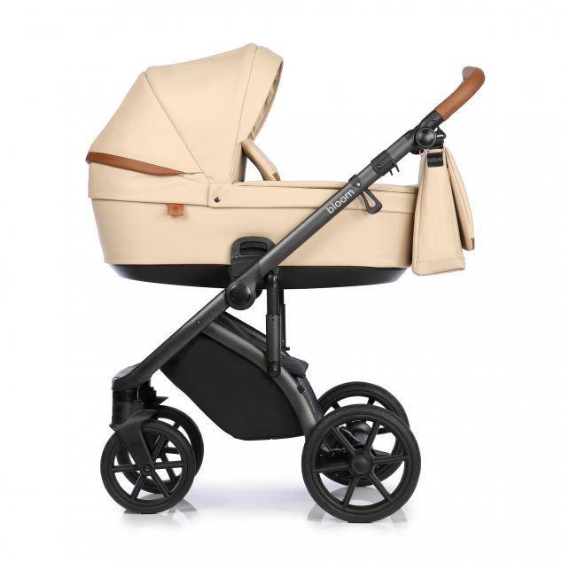 Детская коляска Roan Bloom 2 в 1 эко-кожа Camel / (Бежевый)