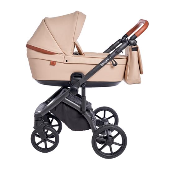 Детская коляска Roan Bloom 2 в 1 New 2021 эко-кожа (Капучино) Cappuccino