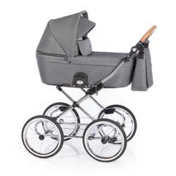 Детская коляска 2 в 1 Roan Coss Classic (Серый) Black Dots