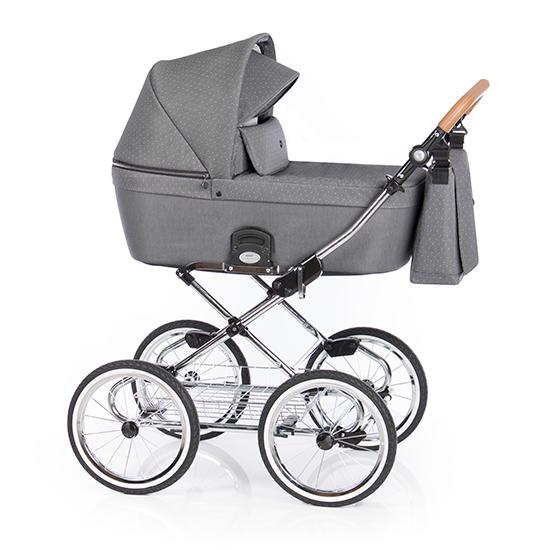 Детская коляска люлька Roan Coss Classic (Black Dots)/(Темно-серый)