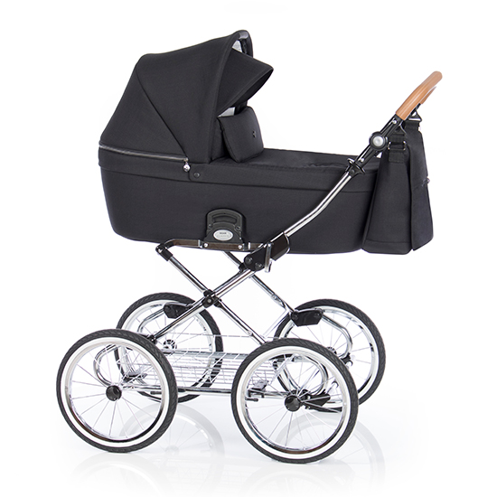 Детская коляска люлька Roan Coss Classic (Black)/(Черный)