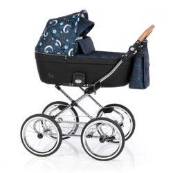 Детская коляска 2 в 1 Roan Coss Classic (Синий с принтом) Born To Shine