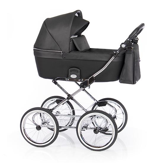 Детская коляска люлька Roan Coss Classic (Dark Glow)/(Черно-серый)