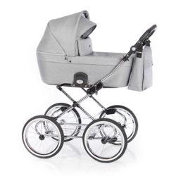 Детская коляска 2 в 1 Roan Coss Classic (Серый) Grey Dots