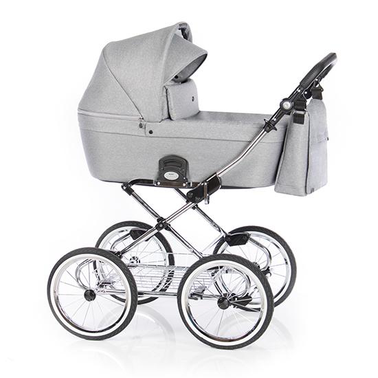 Детская коляска люлька Roan Coss Classic (Grey Dots)/(Светло-серый)