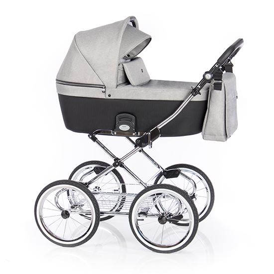 Детская коляска люлька Roan Coss Classic (Grey Glow)/(Серый/Черный)