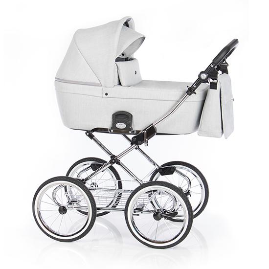 Детская коляска люлька Roan Coss Classic (Grey)/(Бело-серый)