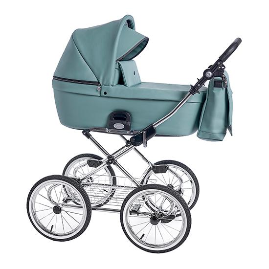 Детская коляска люлька Roan Coss Classic эко-кожа (Misty Mint)/(Бирюзовый)