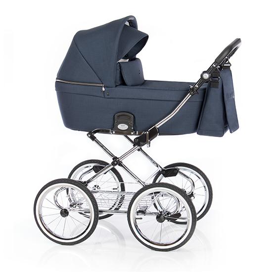 Детская коляска люлька Roan Coss Classic (Navy)/(Темно-синий)
