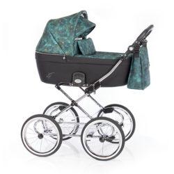 Детская коляска 2 в 1 Roan Coss Classic (Зеленый с принтом) New Adventure
