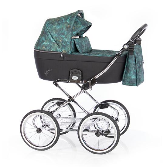 Детская коляска люлька Roan Coss Classic (New Adventure)/(Зеленый/Черный)