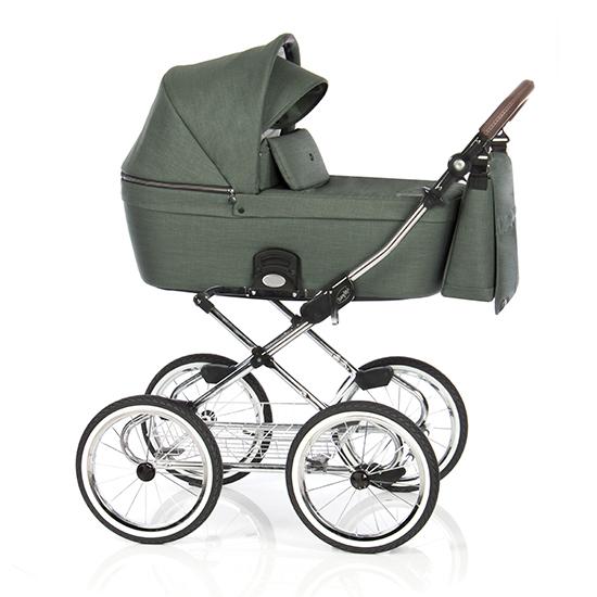 Детская коляска люлька Roan Coss Classic (Night Green)/(Темно-зеленый)